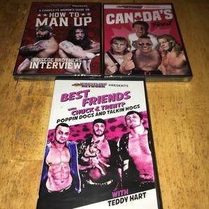 Wrestling Dvd lot of 5 new